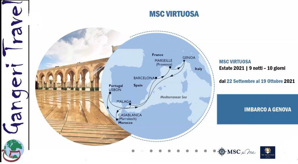 Nuovo itinerario Msc autunno 2021