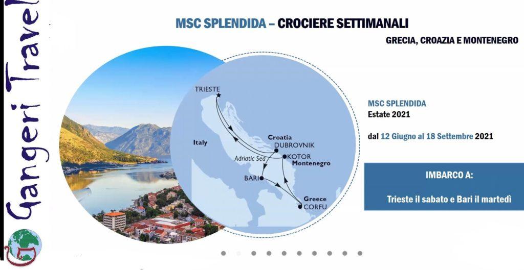 Nuovo Itinerario Msc estate 2021