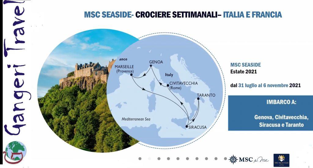 Nuovo itinerario Msc estate/autuno